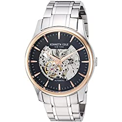 Kenneth Cole KC15110001 - Reloj de pulsera hombre, acero inoxidable, color Plata