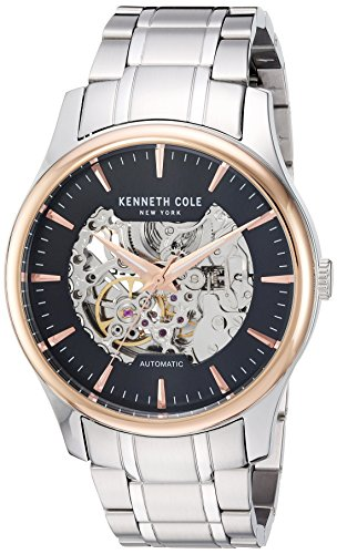 Kenneth Cole Mens Automatic Skeleton Dial Stainless Steel Bracelet KC15110001
