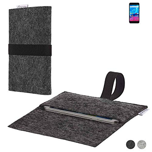 flat.design Handy Hülle Aveiro für Archos Core 50P passgenaue Filz Tasche Case Sleeve Made in Germany