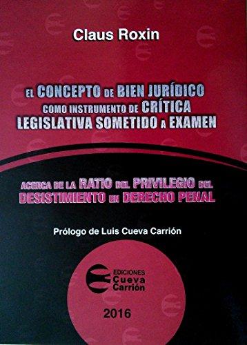 El Concepto De Bien Jurídico Como Instrumento De Crítica Legislativa Sometido A Examen: Acerca De La Ratio Del Privilegio Del Desistimiento En Derecho Penal