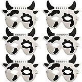 Blue Frog Toys 6 Schaumstoff-Masken für Kinder Tier-Maske, Kuh, Hergestellt
