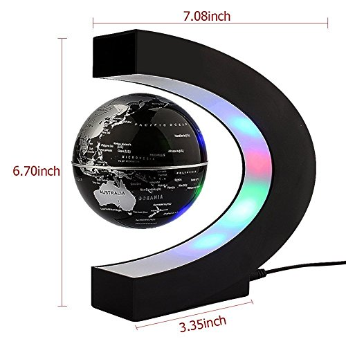 ZJchao Forma C de globo flotante de levitación magnética para decoraciòn en oficina y casa