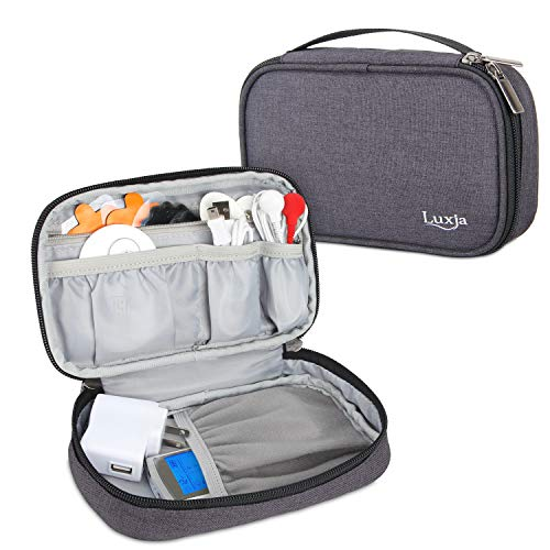 Luxja Bolsa para Beurer EM49 - Electroestimulador Digital Masaje EMS TENS, organizador de Med-Fit 3 - Dispositivo de electroestimulación, Negro