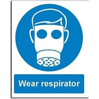 Wear Respirator Sign - Semi Rigid Plastic - 200x250mm(MA-052-RE)