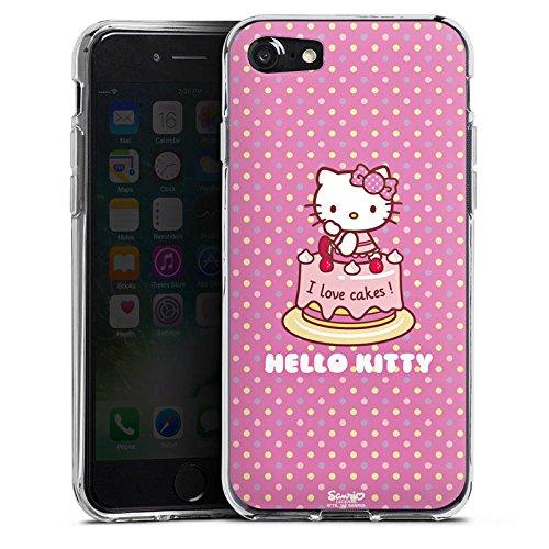 Apple iPhone X Silikon Hülle Case Schutzhülle Hello Kitty Merchandise Fanartikel I Love Cakes Silikon Case transparent