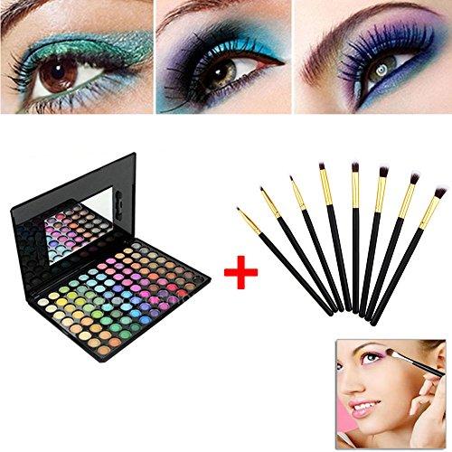 Hrph Kit 88 Couleurs Palette de Maquillage Eyeshadows + 8pcs Pinceaux de Maquiilage Eye Foundation Blending Brush