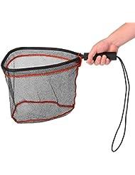 Lixada Filets d'atterrissage en Aluminium Capturez et Relachez Net Fish Saver Mesh en Nylon pour Truites à la Mouche Kayak Pêche en Bateau