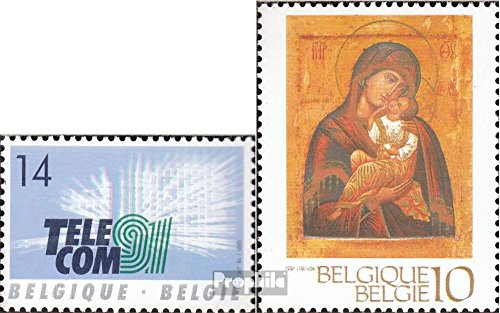 Prophila Collection Belgien 2479,2489 (kompl.Ausg.) 1991 Fernmeldetechnik, Weihnachten (Briefmarken für Sammler) Religion