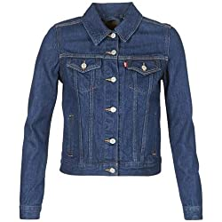 Levi's femmes Veste camionneur d'origine, Bleu (Clean Dark Authentic 0036), XL