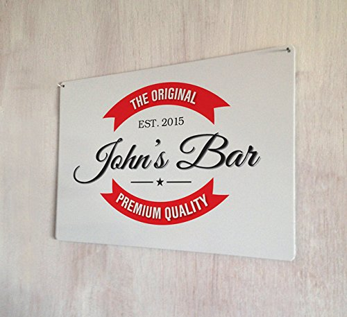 Personalised Home bar, man cave, bar pub sign A4 metal wall art sign by Artylicious -