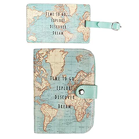 Travel Set: 1 x Passport Cover and 1 x Luggage Tag
