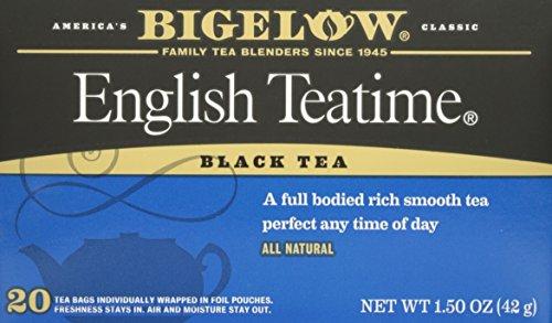 Bigelow Black Tea English Teatime 20 Tea Bags 42g