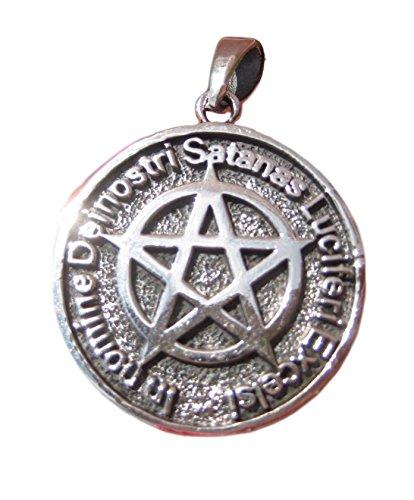 925Silber teuflischen Pentagramm Anhänger Pentagramm Halskette Schmuck Art A18