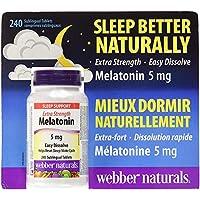 Webber Naturals Extra Strength Melatonin 5mg 240 Sublingual Tablets