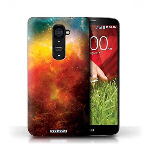 Kobalt® Imprimé Etui / Coque pour LG G2 / Nébuleuse Pourpre conception / Série Cosmos Nébuleuse Orange