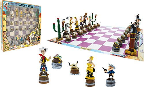 Plastoy-SAS-PLA69001-Lucky-Luke-Schachspiel-Lucky-Luke-Brettspiel