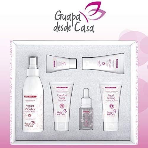 Set Cuidado Facial | 6 productos | Agua Micelar, Active Serum Hialuronico, Comfort Mask, Expert Cream, Gold Eye Contour, Pearl Peeling | Sin Parabenos | Elaborado en España