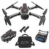 Goolsky SG906 GPS Drone avec Sac à Main 4K Caméra Brushless 5G WiFi FPV Débit Optique Pliable Positionnement Altitude Hold RC Quadcopter (Noir &2 Batteries)
