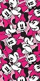 KidCo - Telo Mare Ufficiale Disney Minnie Mouse, in Cotone, Colore: Rosa