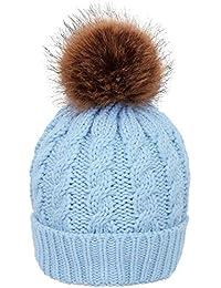 Yaogroo Sombrero holgado grueso de Slouchy Beanie de punto para mujer con  gorro de esquí de 65c0bf52f233