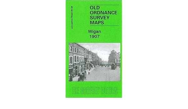 Old Ordnance Survey Detailed  Maps Wigan Lancashire 1907 Sheet 93.08  New