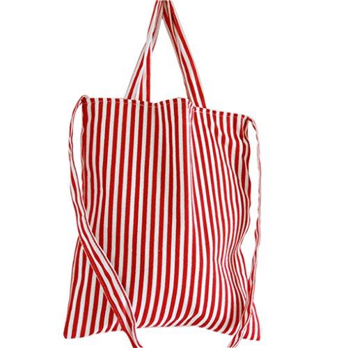 QHGstore Grande capienza della tela di canapa delle donne della borsa banda del blu marino Shopping Tote femminile Borsa a tracolla NO.4