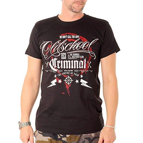 "T-Shirt Oldschool Criminal \""We Don\'t Call The Cops\"" Shirt Hooligans Tattoo Fussball Ultra Gangster (XXL)"