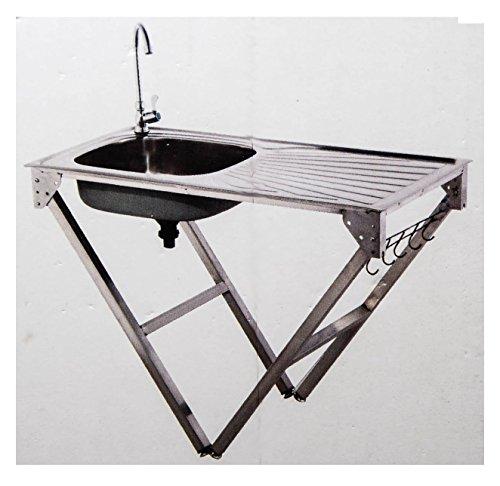 Lavello in acciaio inox cucina da campeggio attacco per tubo Mobile ...