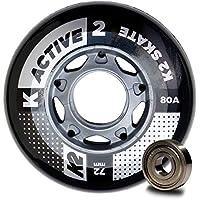 K2 30B3007.1.1.1SIZ - Juego de 8 Ruedas Active Wheel para Patines en Línea, 72 mm, ILQ 5, Tamaño único, Multicolor