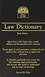 Barron's Law Dictionary: Mass Market Edition (Barron's Legal Guides) by Steven H. Gifis (2010-09-01)