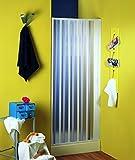 Nischenfalttür | Nischendusche | Duschfalttür | Rimini | PVC transparent | 80-100x 185 cm, weiss