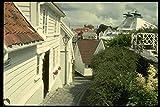 219058 Quaint Cobble stoned Stavanger Old Town A4 Photo
