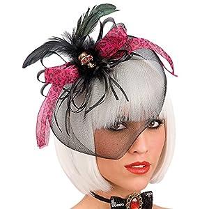 Carnivaltoys - tiara con velo, arco y cráneo - Carnaval de Halloween