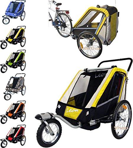 Preisvergleich Produktbild PAPILIOSHOP LEON Kinderanhänger Fahrradanhänger jogger von 1 oder 2 kinder
