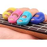 Bonjouree 4 pcs Protège Doigts de Guitare Protecteurs Du Bout Des Doigts pour Ukulele Guitare Accessories (S)