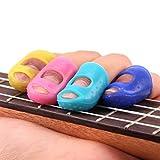 Bonjouree 4 pcs Protège Doigts de Guitare Protecteurs Du Bout Des Doigts pour Ukulele Guitare Accessories (L)