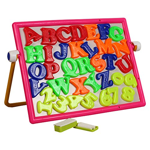 Ideal Learn & Write 2-in-1 Magnetic Cum Writing Board For Kids 3+ Multi Color (board for learning with fun)