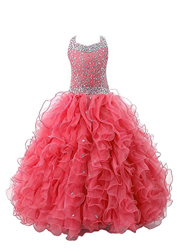 wealth-girls-crystal-ruffled-ball-gowns-party-long-kids-pageant-dresses-6-us-watermelon