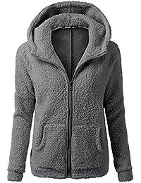 MORCHAN Femmes Pull à Capuche Manteau d hiver Chaud Laine Zipper Outwear Manteau  Manteau de 6c511aaa8746