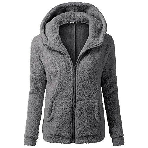 Jacke Dicker Warm Bequem Slim Parka Mantel Lässig Mode Frauen Mit Kapuze Pullover Wolle Reißverschluss Baumwollmantel Outwear ()