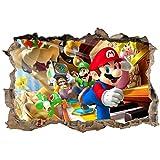 Stickers 3D Mario Réf 23619-120x80cm