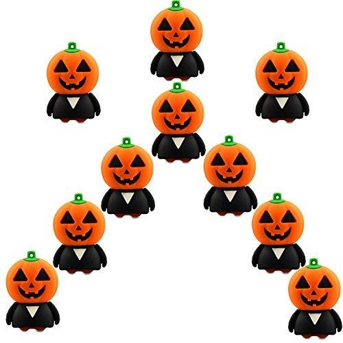 (10 Stück Speicherstick USB 16GB Halloween Kürbis USB-Sticks 16GB)