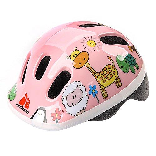 Casco de seguridad pequeño de bicicleta, para niños, color Animals, tamaño 48-52 cm