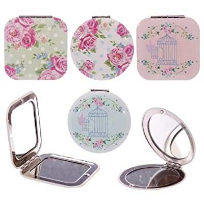 Laura Bell Chintz Compact Mirror produced by Puckator - quick delivery from UK.