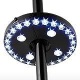 Lampe pour Parasol de Jardin, lampe d'ombrelle avec 28 ampoules LED, lampe fixé sur pied ou être suspendue, 3 mode de switch pour régler la lumière, lampe opéré par batterie comme parapluie
