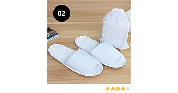 oobest Pantofole Pieghevoli Portatili USA e Getta da Viaggio Unisex Sandali tascabili Portatili Lavabili