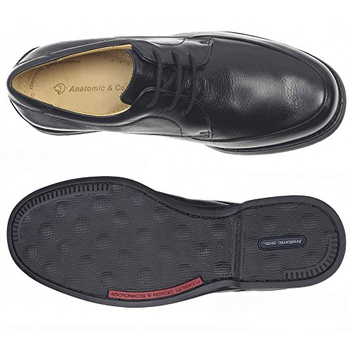 Anatomic Gel  AnatomicGel New Recife Black, Chaussures de ville à lacets pour homme Noir Noir Cuir noir