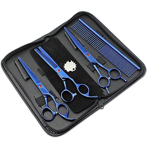 Aussel Pet Curved Scissor Set- perfekt für Hundesalon, Durable Edelstahl, bereitgestellt mit Beutel, komfortabel, funktional und sehr Ergonomische -