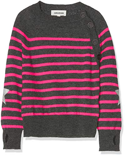 ZADIG&VOLTAIRE Pull Fille (Gris Rose Multicolore M54), Taille Fabricant: 06A