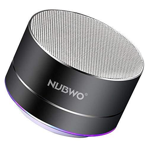 Bluetooth Lautsprecher, NUBWO A2 Tragbarer Bluetooth Outdoor-Lautsprecher, kabelloser Lautsprecher mit verbesserter Bass und Freisprechen-Schwarz